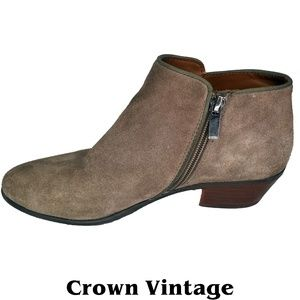 Crown Vintage Tabitha Leather Taupe Ankle Booties